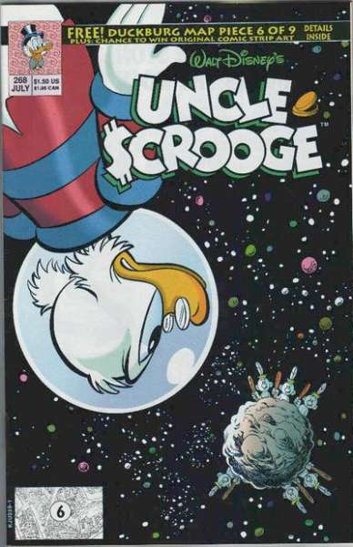 Walt Disney's Uncle Scrooge #268 Comic Books - Covers, Scans, Photos  in Walt Disney's Uncle Scrooge Comic Books - Covers, Scans, Gallery