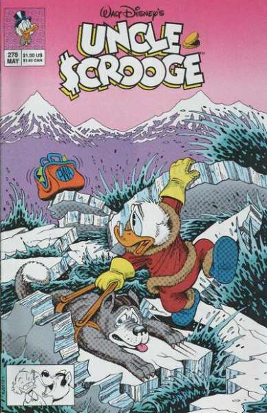Walt Disney's Uncle Scrooge #278 comic books - cover scans photos Walt Disney's Uncle Scrooge #278 comic books - covers, picture gallery