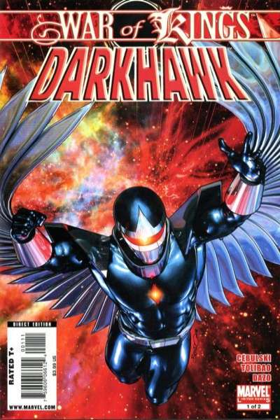 War of Kings: Darkhawk comic books