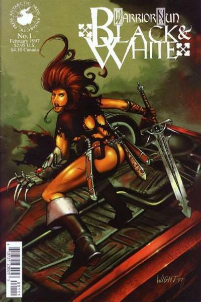 Warrior Nun: Black and White #1 comic books for sale