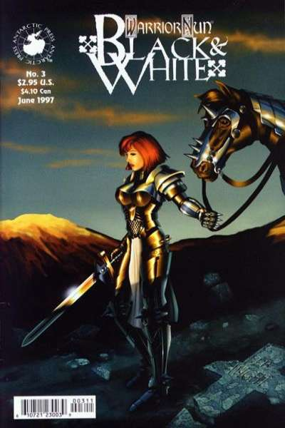 Warrior Nun: Black and White #3 comic books for sale