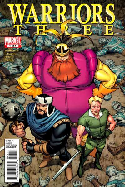 Warriors Three #1 comic books - cover scans photos Warriors Three #1 comic books - covers, picture gallery