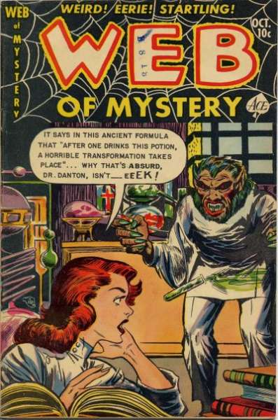 Web of Mystery #14 comic books - cover scans photos Web of Mystery #14 comic books - covers, picture gallery