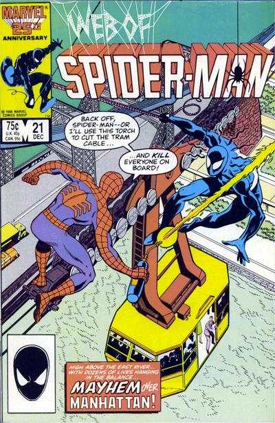 Web of Spider-Man #21 comic books - cover scans photos Web of Spider-Man #21 comic books - covers, picture gallery