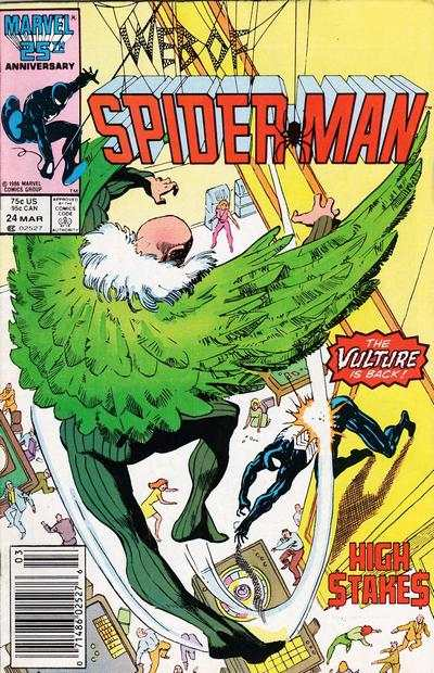 Web of Spider-Man #24 comic books - cover scans photos Web of Spider-Man #24 comic books - covers, picture gallery