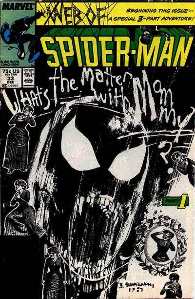 Web of Spider-Man #33 comic books - cover scans photos Web of Spider-Man #33 comic books - covers, picture gallery