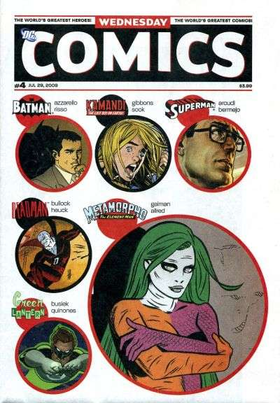 Wednesday Comics #4 comic books - cover scans photos Wednesday Comics #4 comic books - covers, picture gallery