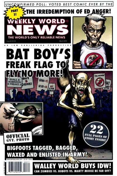 Weekly World News #3 cheap bargain discounted comic books Weekly World News #3 comic books