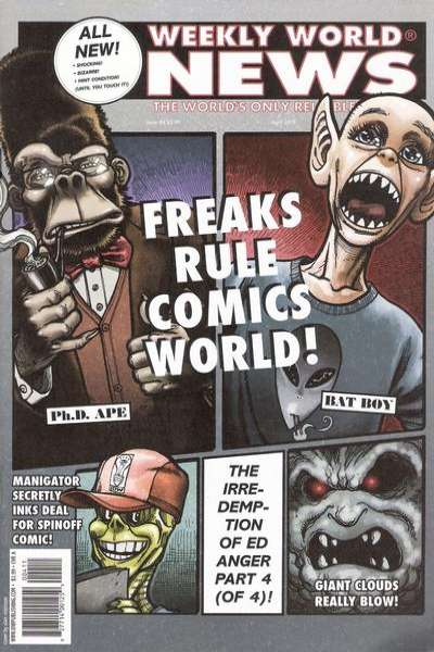 Weekly World News #4 comic books - cover scans photos Weekly World News #4 comic books - covers, picture gallery