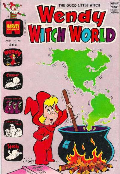 Wendy Witch World #48 comic books - cover scans photos Wendy Witch World #48 comic books - covers, picture gallery
