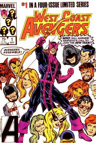 West Coast Avengers #1 comic books - cover scans photos West Coast Avengers #1 comic books - covers, picture gallery