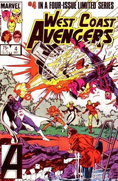 West Coast Avengers #4 comic books - cover scans photos West Coast Avengers #4 comic books - covers, picture gallery