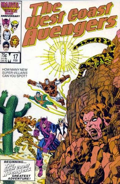 West Coast Avengers #17 comic books for sale