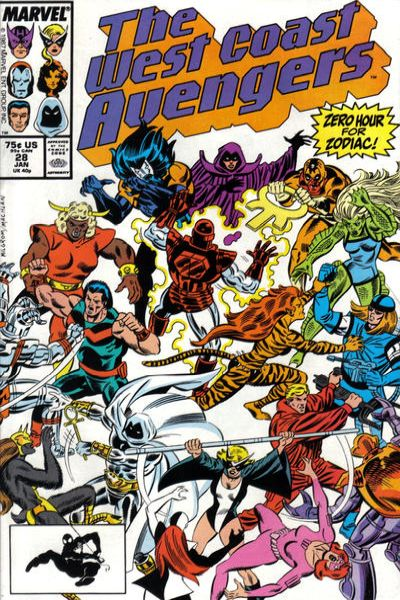 West Coast Avengers #28 comic books for sale