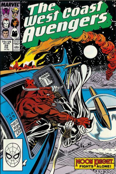 West Coast Avengers #29 comic books for sale