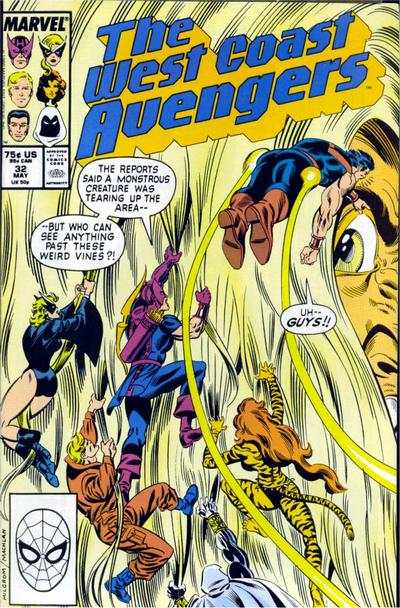 West Coast Avengers #32 comic books for sale