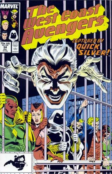 West Coast Avengers #34 comic books for sale