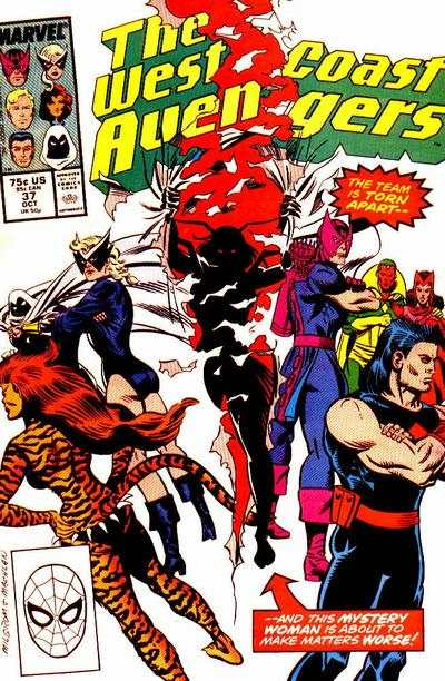 West Coast Avengers #37 comic books for sale
