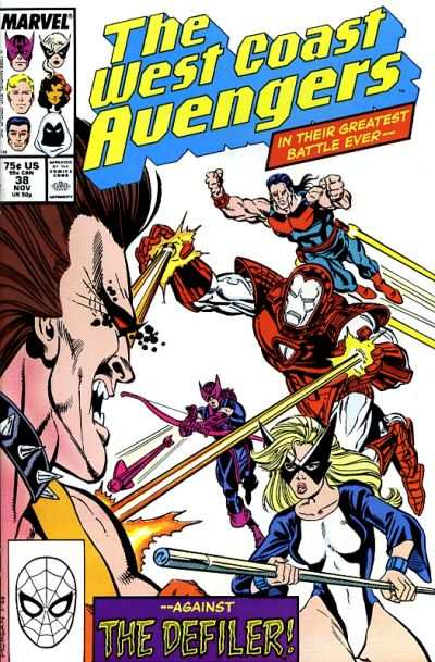 West Coast Avengers #38 comic books for sale