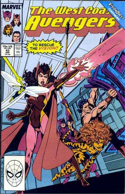 West Coast Avengers #43 comic books for sale