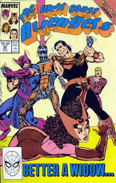 West Coast Avengers #44 comic books for sale