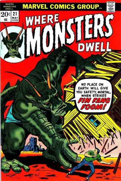 Where Monsters Dwell #21 Comic Books - Covers, Scans, Photos  in Where Monsters Dwell Comic Books - Covers, Scans, Gallery