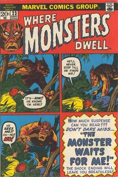 Where Monsters Dwell #23 comic books for sale