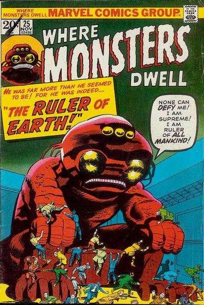 Where Monsters Dwell #25 Comic Books - Covers, Scans, Photos  in Where Monsters Dwell Comic Books - Covers, Scans, Gallery