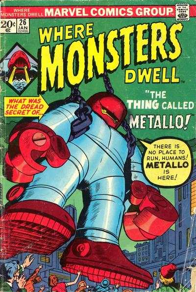 Where Monsters Dwell #26 Comic Books - Covers, Scans, Photos  in Where Monsters Dwell Comic Books - Covers, Scans, Gallery