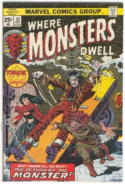 Where Monsters Dwell #32 Comic Books - Covers, Scans, Photos  in Where Monsters Dwell Comic Books - Covers, Scans, Gallery