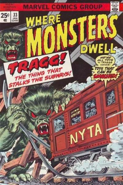 Where Monsters Dwell #33 comic books for sale