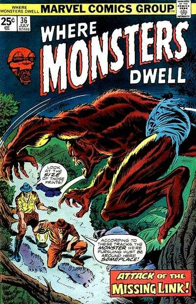 Where Monsters Dwell #36 comic books for sale