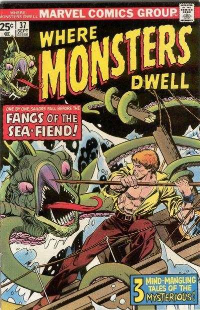 Where Monsters Dwell #37 Comic Books - Covers, Scans, Photos  in Where Monsters Dwell Comic Books - Covers, Scans, Gallery