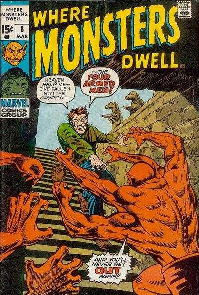 Where Monsters Dwell #8 Comic Books - Covers, Scans, Photos  in Where Monsters Dwell Comic Books - Covers, Scans, Gallery