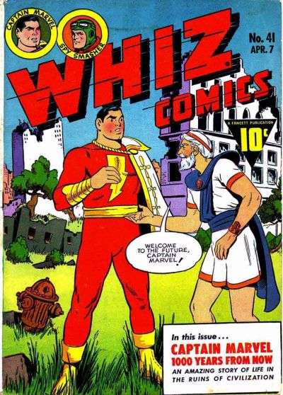 Whiz Comics #41 comic books - cover scans photos Whiz Comics #41 comic books - covers, picture gallery