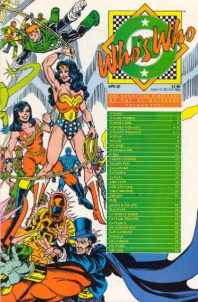 Who's Who: The Definitive Directory of the DC Universe #26 comic books - cover scans photos Who's Who: The Definitive Directory of the DC Universe #26 comic books - covers, picture gallery