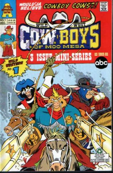 Wild West C.O.W.-boys of Moo Mesa #1 Comic Books - Covers, Scans, Photos  in Wild West C.O.W.-boys of Moo Mesa Comic Books - Covers, Scans, Gallery
