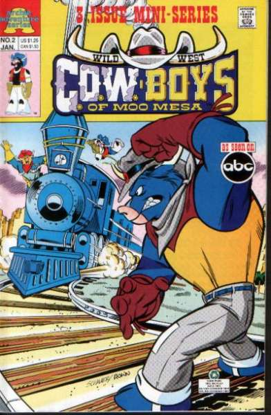 Wild West C.O.W.-boys of Moo Mesa #2 Comic Books - Covers, Scans, Photos  in Wild West C.O.W.-boys of Moo Mesa Comic Books - Covers, Scans, Gallery