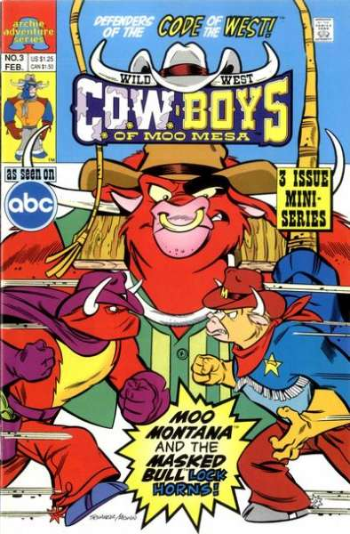 Wild West C.O.W.-boys of Moo Mesa #3 Comic Books - Covers, Scans, Photos  in Wild West C.O.W.-boys of Moo Mesa Comic Books - Covers, Scans, Gallery