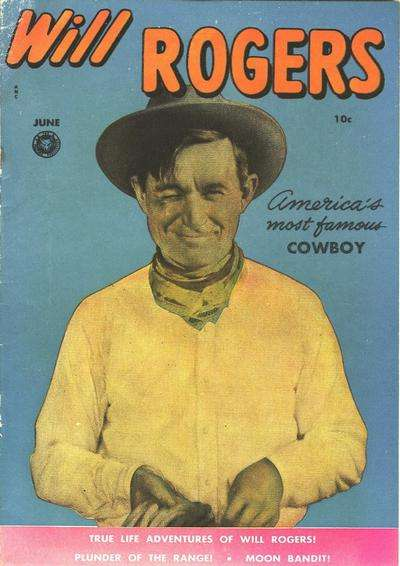 Will Rogers #5 comic books - cover scans photos Will Rogers #5 comic books - covers, picture gallery
