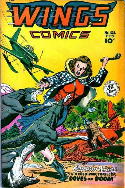 Wings Comics #102 comic books for sale