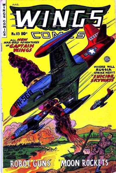 Wings Comics #113 comic books for sale