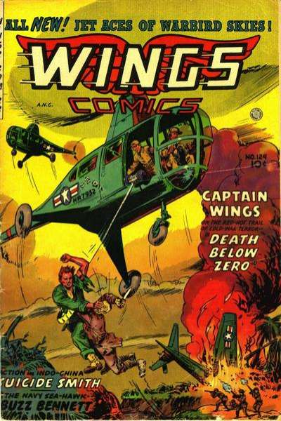 Wings Comics #124 comic books for sale