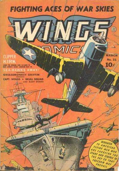 Wings Comics #31 comic books - cover scans photos Wings Comics #31 comic books - covers, picture gallery