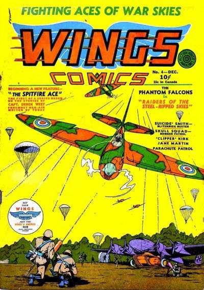 Wings Comics #4 comic books - cover scans photos Wings Comics #4 comic books - covers, picture gallery