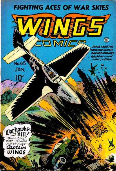 Wings Comics #65 comic books for sale
