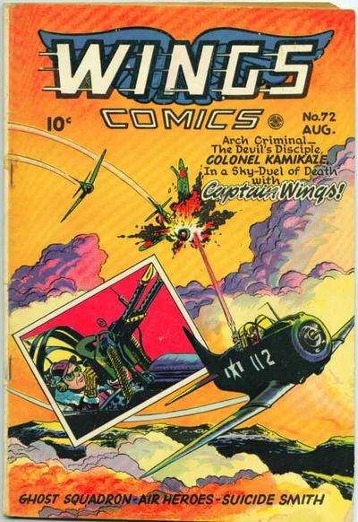 Wings Comics #72 comic books for sale