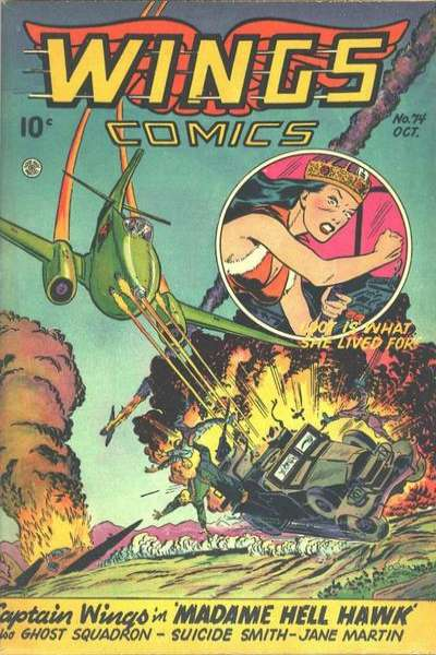 Wings Comics #74 comic books for sale