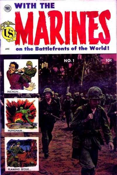 With the Marines comic books
