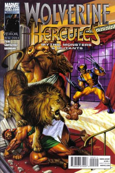 Wolverine/Hercules: Myths Monsters & Mutants #2 comic books - cover scans photos Wolverine/Hercules: Myths Monsters & Mutants #2 comic books - covers, picture gallery